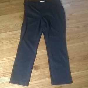 Ellen Tracy Dark Grey Slacks XL